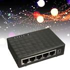 Black 5 Ports Way Ethernet Desktop Switch LAN Splitter Network Hub 10/100Mbps WT
