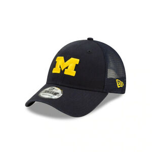 Michigan Wolverines NCAA New Era Trucker 9FORTY Adjustable Hat-Blue/Gold