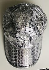 M&S Silver Sequin Cap - Age 10-14 Years