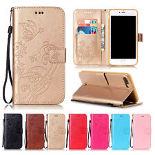 Luxury Leather Wallet Flip Pattern Card Strap Case Cover For iPhone 8 8 Plus X 7