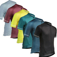 2019 New Mens Cycling Jerseys Outdoor Sports Riding Shirts Quick Dry Full Zipper