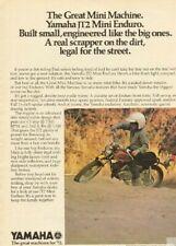 1972 Yamaha JT2 Mini Enduro Vintage Motorcycle Ad