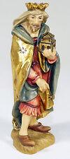 ANRI - Figur HOLZFIGUR Weihnachtskrippe MELCHIOR Heilige Drei Könige - Italy