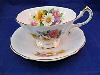 VINTAGE QUEEN ANNE TEA CUP AND SAUCER FOR DISPLAY ONLY - MADE IN ENGLAND