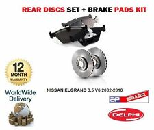 FOR NISSAN ELGRAND  3.5  V6 2002-2010 REAR BRAKE DISCS SET AND DISC  PADS KIT