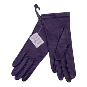 NWT Neiman Marcus Purple Leather Gloves Size Large