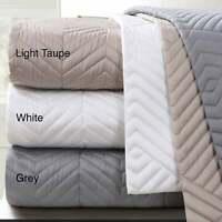 Echelon Home Monterey Quilted Cotton Euro Sham (Set of 2) White Euro Square