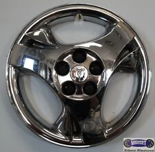 "'03-'05 PONTIAC SUNFIRE USED 15"" HUBCAP, 3 DIVIDED SPOKES, CHROME, LOGO, 5131a"