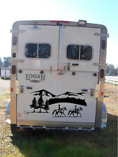 Horses Landscape & Mountains Horse Trailer Rv Decal Stickers 27x60