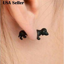 1 PCS Cute Fashion Jewelry Men Women 3D Animal Black Dog Clay Ear Stud Earring