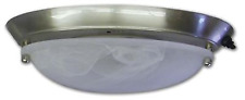 American Motorhome RV Brushed Nickel + Frosted Glass Ceiling Light   18-1364