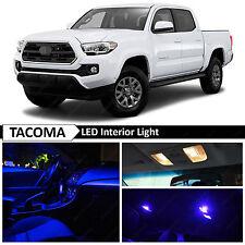 12x 2016-2017 Toyota Tacoma Interior Blue Interior LED Lights Package Kit