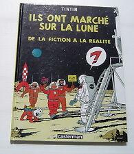 TINTIN . Ils ont marché sur la Lune (avec Feuillet) . HERGE . BD EO CASTERMAN