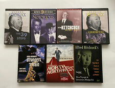 Alfred Hitchcock 7 Dvd lot - Secret Agent, Strangers on a Train, North by Nw +