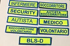 PATCH MISERICORDIE TESSUTO FLUO VERDE - SCRITTE VARIE