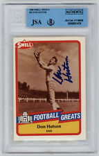 PACKERS Don Hutson signed card 1989 Swell #10 JSA Beckett Slab AUTO Autographed