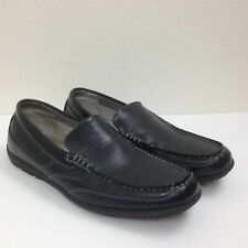 Men's NUNN BUSH Dual Comfort Black Faux Leather Slip On Loafers Shoes Sz 10.5 M