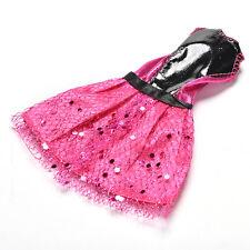 "1 Pc Rose Black Handmade Wedding Lace Dress for 11"" Barbies Dolls 13cm Best EP"
