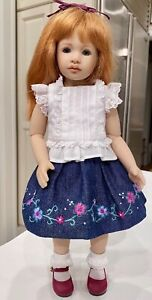 "Boneka 24cm 2 Piece Embroidered skirt Lace Top 4 11"" Heidi Plusczok Dolls"