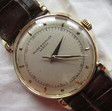Baume & Mercier mens wristwatch 18K solid gold case load manual