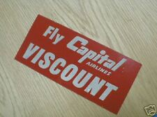 FLY CAPITAL AIRLINES VISCOUNT STICKER      AR129  *
