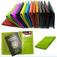Genuine Eel skin Leather PASSPORT holder Wallet Travel wallet 13 Colors