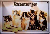 Katzenzungen Targa di Latta Poster Metallo Scudo ad Arco Stagno Segno 20 x 30 CM