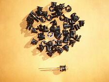 (50 PCS) 5mm Black Plastic LED Holder Case Cup