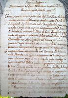 1810 SOLAROLO BEL DOCUMENTO MANOSCRITTO SOPPRESSA CONFRATERNITA DEL ROSARIO
