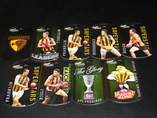2010 SELECT AFL TAGS TEAM SET OF 9 HAWTHORN HAWKS