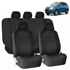 BLACK AIRBAG & SPLIT Bench SEAT COVERS 9pc SET for SATURN ION VUE