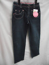 Bnwt Girls Sz 12 Lisa Rose Dark Denim Adjustable Waist Denim Jeans Rrp $49.95