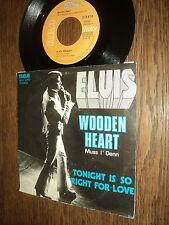 """ELVIS PRESLEY 45 TOURS SP 7"""" BELGIUM WOODEN HEART"""