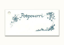 50 Potpourri Hang Tags Cream Cardstock ~ Scent ~ Dried Flowers ~ Gift ~Fragrance