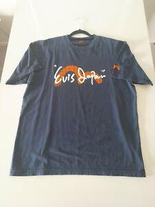 Evisu Evis Japan Seagull Shirt Navy Large Logo Spellout Men's Large