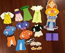 Melissa & Doug Maggie Leigh Magnetic Wooden Dress-Up Doll Pretend Play Set
