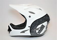 WHITE SIXSIXONE COMP SHIFTED BMX BICYCLE FULL FACE HELMET SIZE SMALL