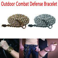 Outdoor Combat Bracelet Survival Necklace Protection Whip Defense Steel Kits