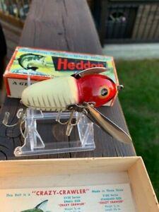 vtg HEDDON XRW Crazy Crawler fishing lure with Original Box & Booklet !