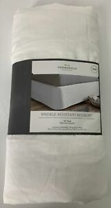 THRESHOLD Twin Bed Skirt NWT Wrinkle Resistant Cotton Blend White