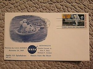 USA FIRST DAY COVER 1969 APOLLO XII SLASHDOWN, RETURN FROM THE MOON