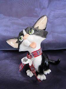 Ornamental Black & White Cat - Pet with Personality