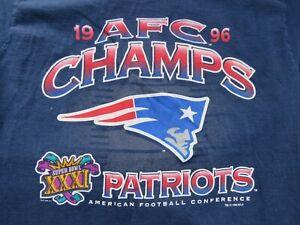 1996 AFC CHAMPIONS New England Patriots (LG) Shirt SUPER BOWL XXXI DREW BLEDSOE