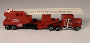 Vintage Matchbox Convoy Peterbilt Fire Engine Tractor Trailer Mint