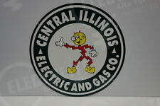 Reddy Kilowatt CENTRAL ILLINOIS HEAVY & THICK SIGN GREAT COLORS ELECTRICIAN GIFT