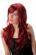 Perruque Pour Femme long lisse complexe Raie Pony rouge grenat rouge GFW244A