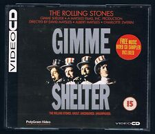 THE ROLLING STONES GIMME SHELTER  BOX 2 VIDEOCD CD F.C. COME NUOVO!!!