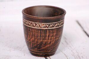 Handmade Clay Cup Glassful Decor Ethno Drinking Glass Pottery Organic Ceramics