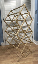 VIntage wooden drying rack double wide sturdy slated unusual 54""