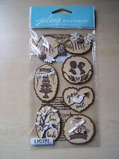 NEW-JOLEE'S/JOLEES BOUTIQUE - LARGE - WOODEN SILHOUETTE WEDDING ICONS